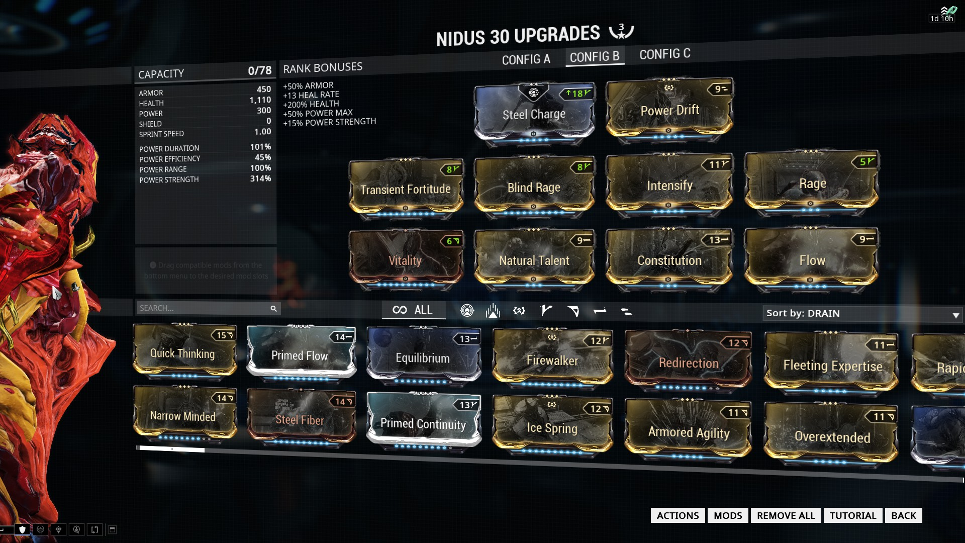 Warframe Nidus Best Build