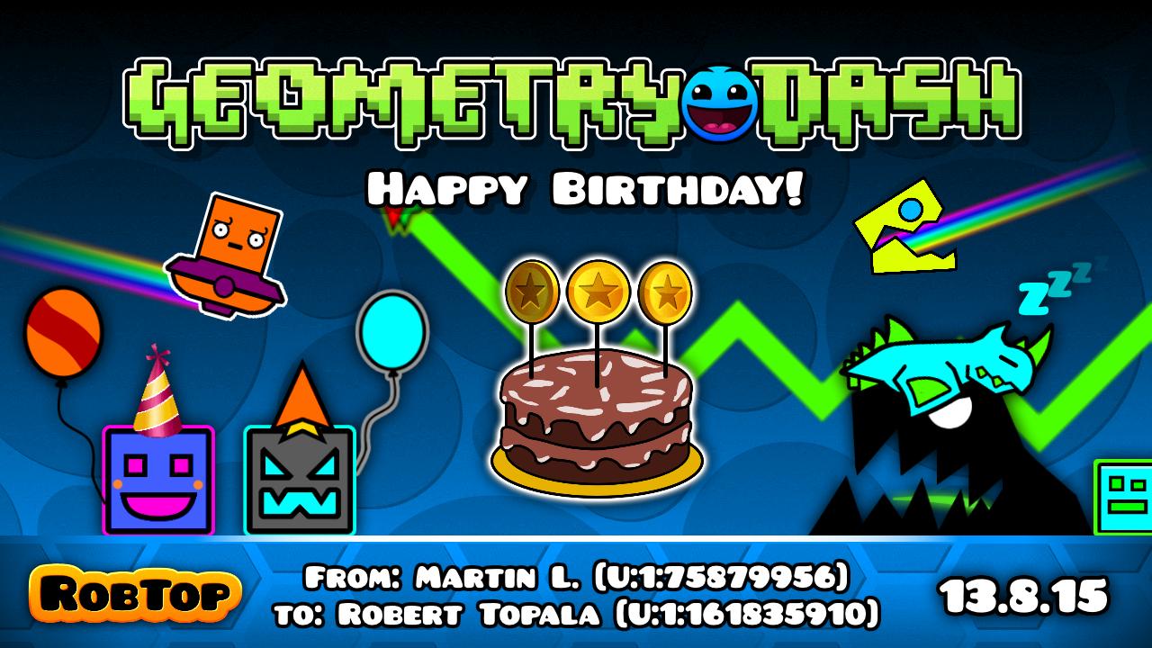 Steam community happy birthday geometry dash