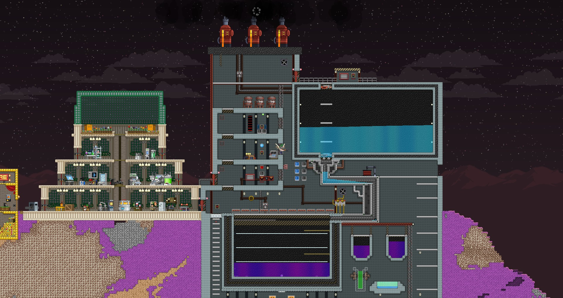 My First Fuel Dilution Station Converts Water To Starbound Wiring Latch Zoomed Out