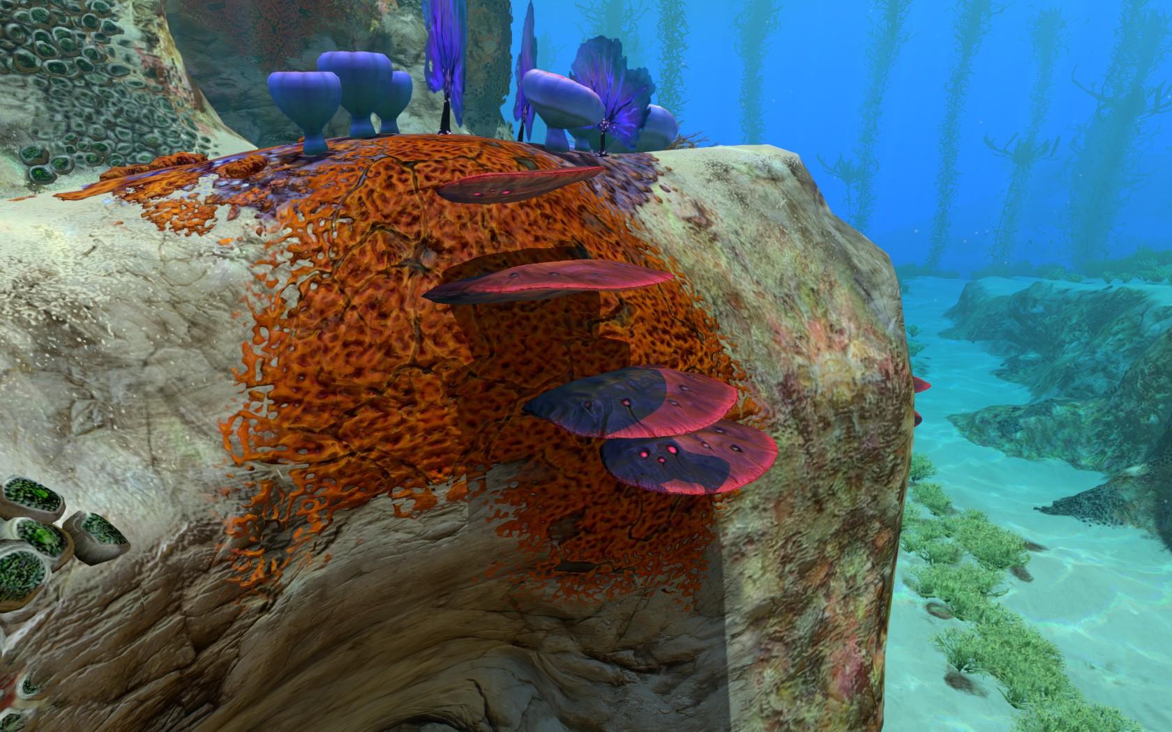 Steam community guide subnautica flora fauna research for Table coral subnautica