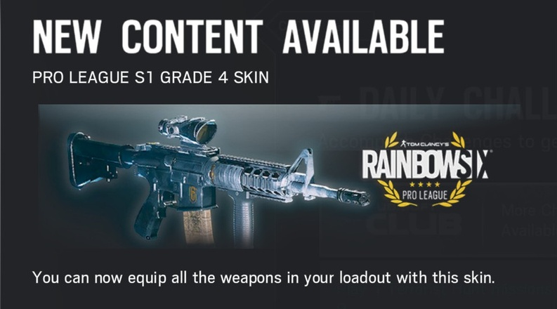 ESport / Pro League SKINS - List of all R6:Siege Skins + Gallery