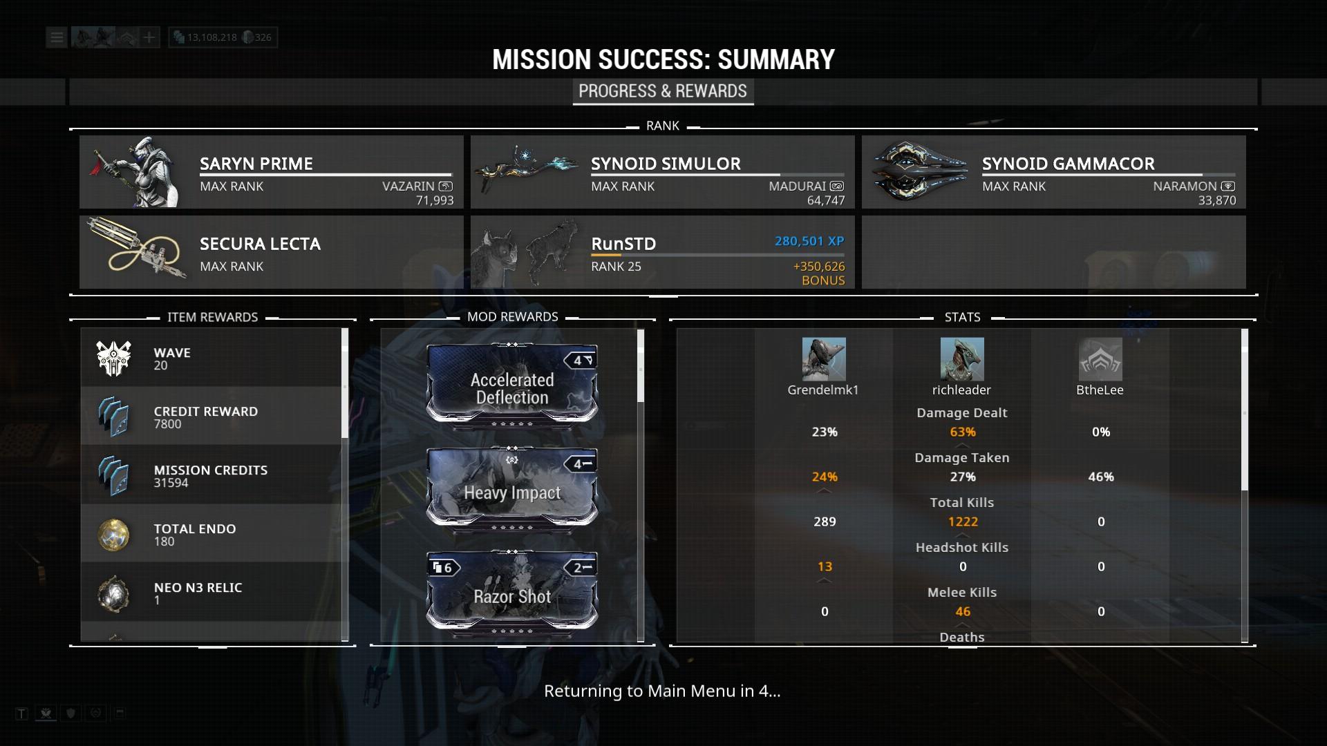 Warframe Fortuna The Profit Taker Mesa Prime Colon Prime Ars