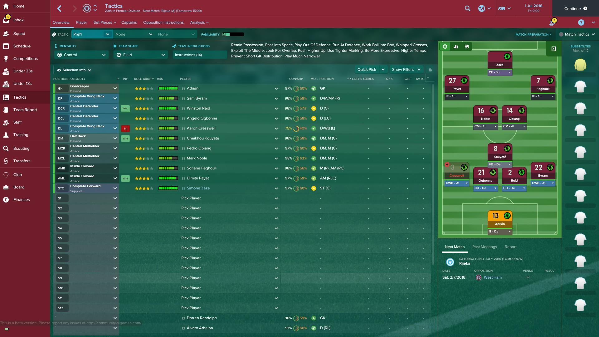 Best West Ham XI
