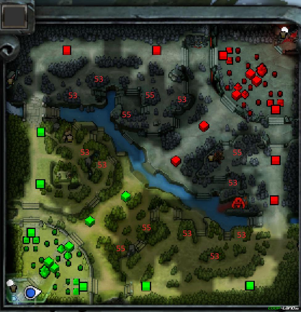 Как в доте сделать на карте