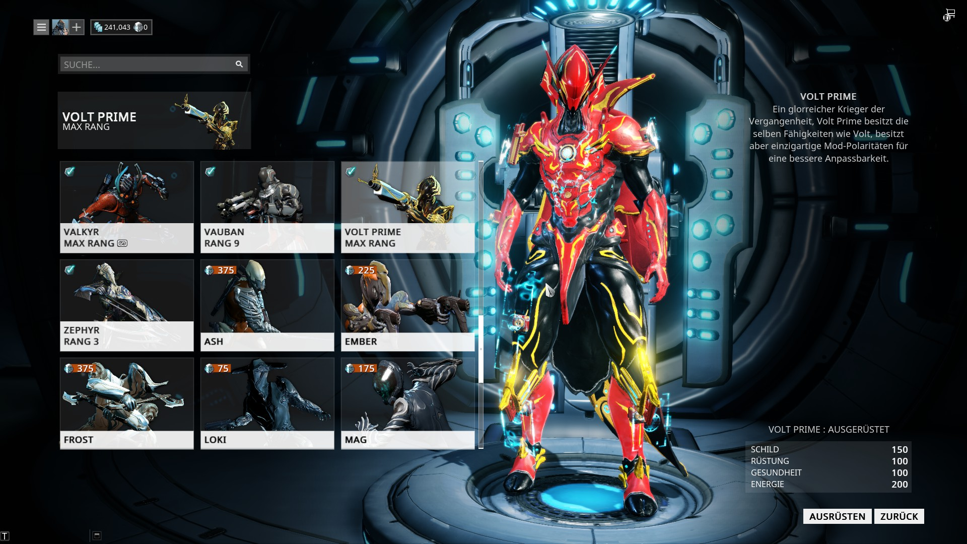 Warframe Frost End Build