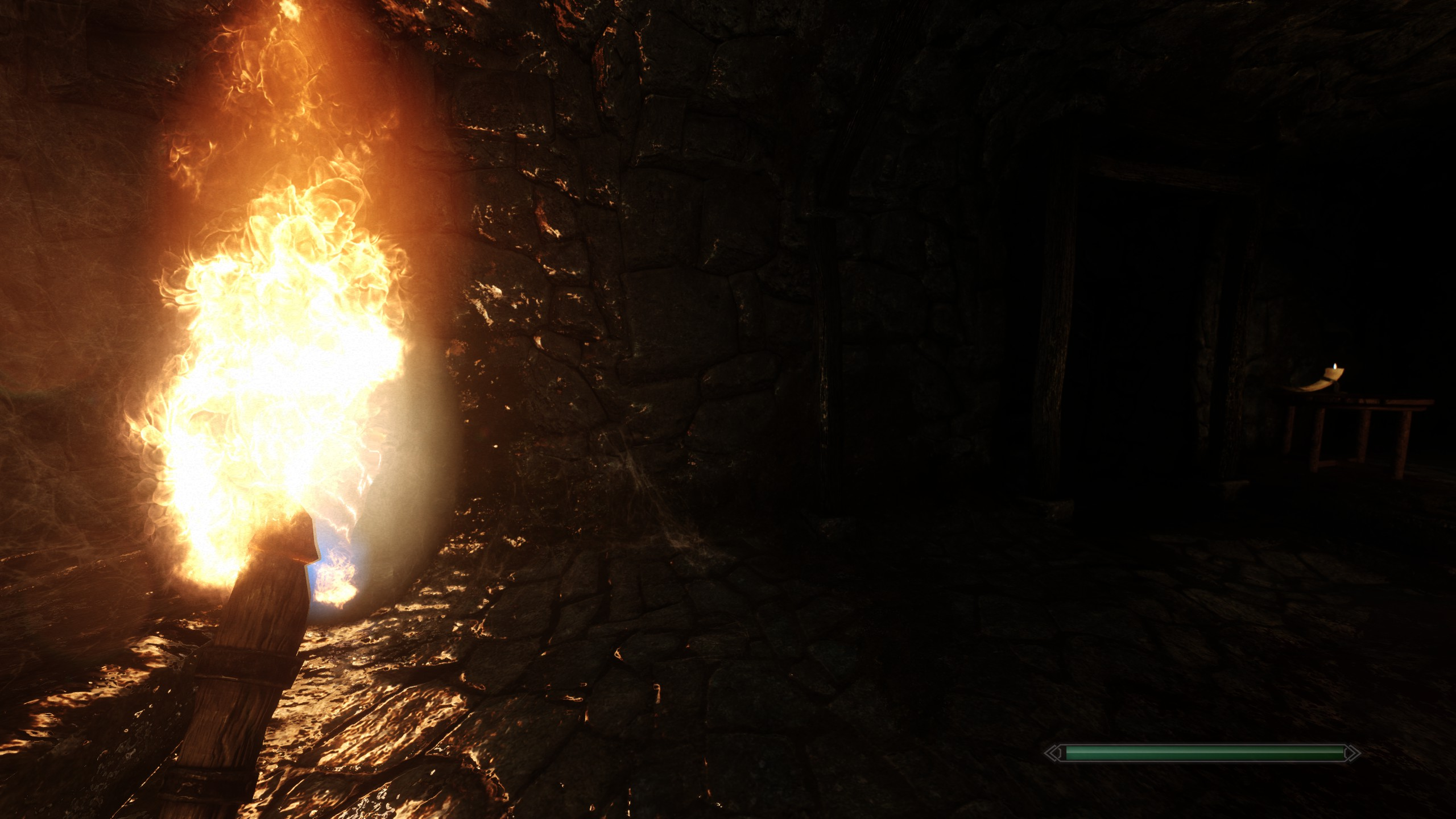 Overly bright/intense torch + blinding reflections [using ENB (NLA