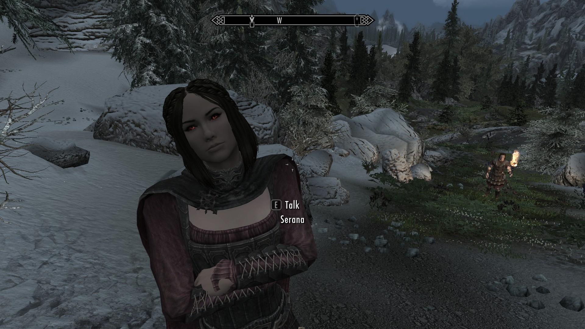 Skyrim females all have darker heads than their bodies : skyrimmods