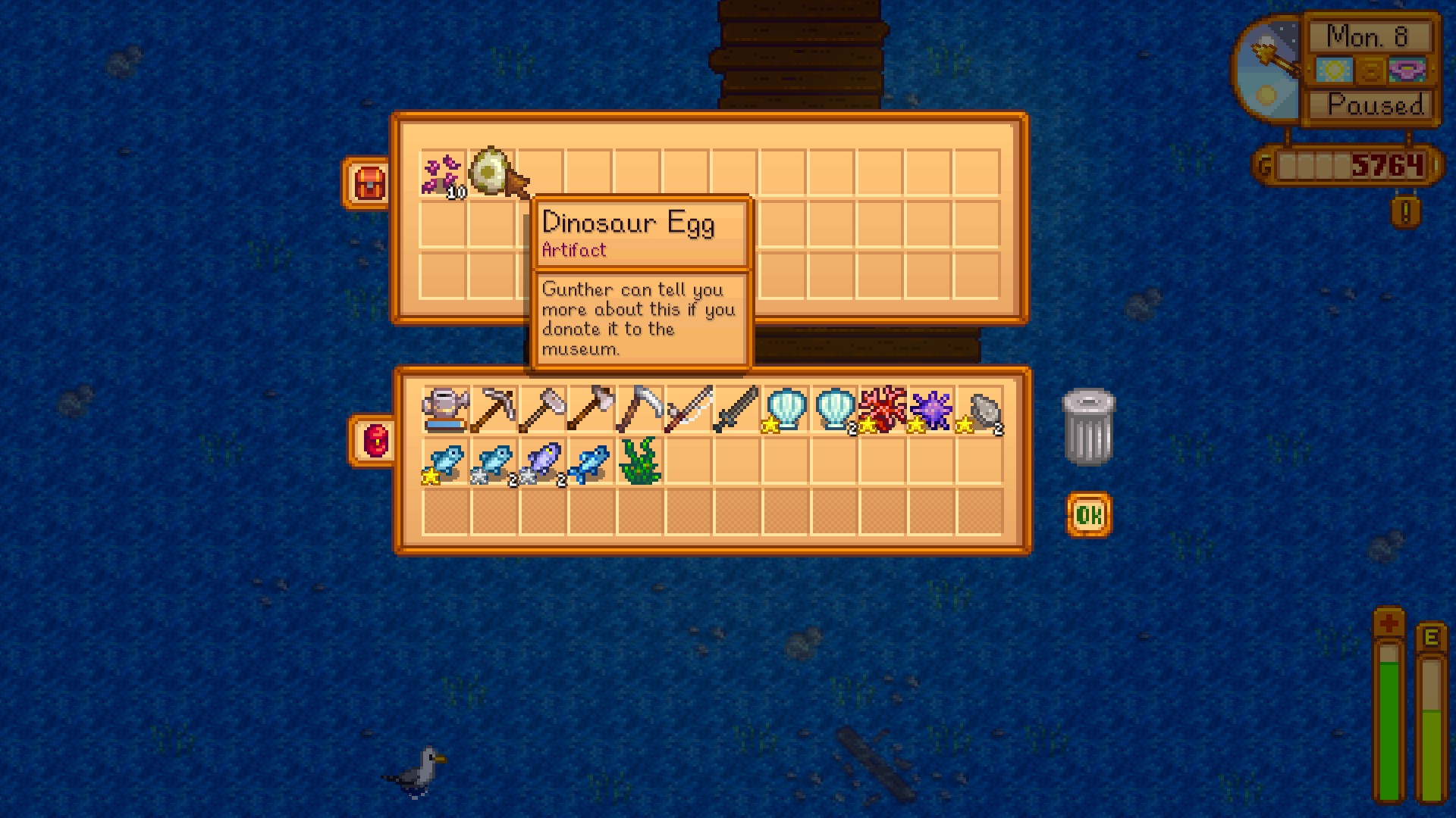 Dinosaur Egg Data Stardew Valley General Discussions Spawning items in stardew valley is not done via commands, but rather through a cheat in which you must set your character's name, or the name of an animal, to the item code of the item you wish to spawn surrounded by  and . steam community