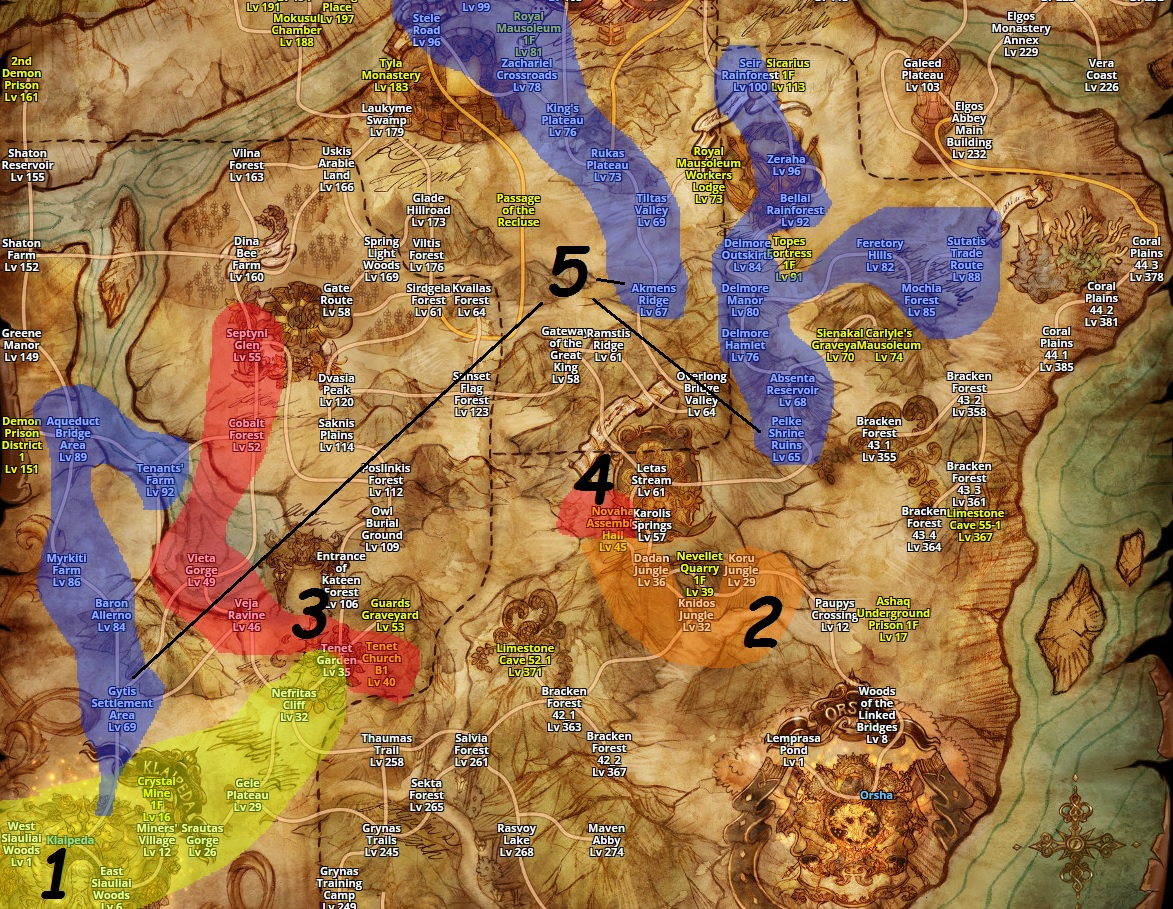 Guide Tree of savior indonesia: World Map ToS