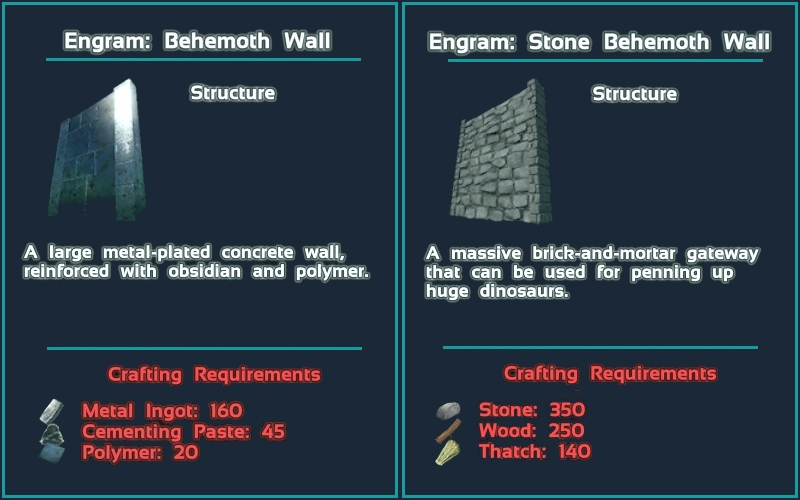 Steam workshop behemoth wall mod cheat giveitem blueprintgamemodsbehemothmodprimalitemstructuremetalbehemothwallimalitemstructuremetalbehemothwall 1 1 false malvernweather Gallery