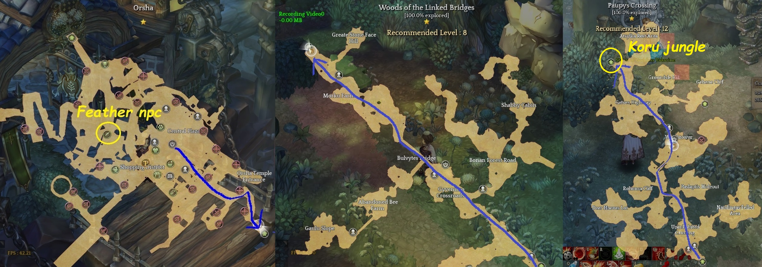 tos how to get to koru jungle