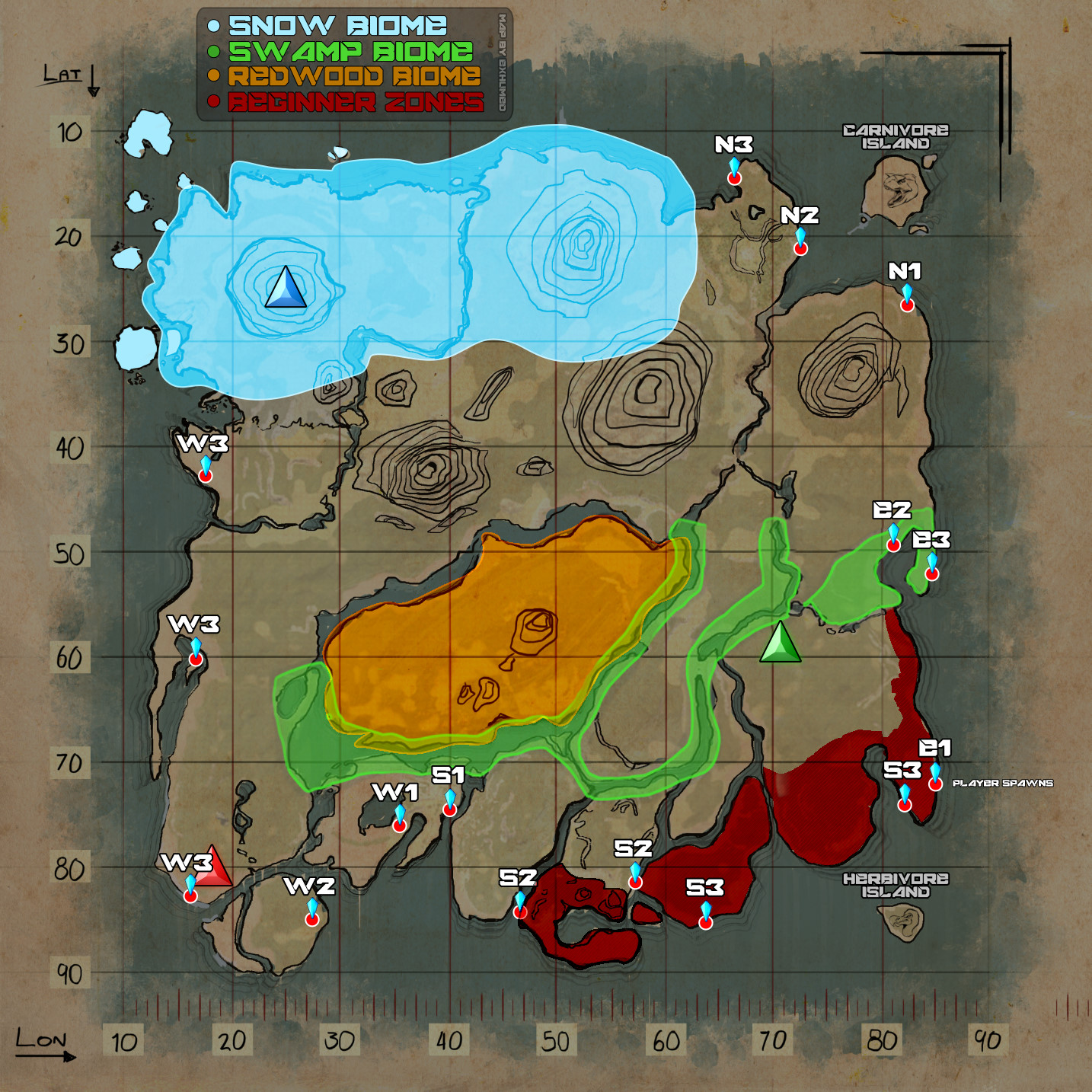 Spawn Map Scorched Earth – Dekor