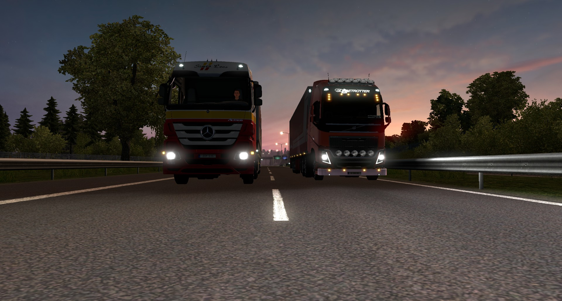 Aux lights on roof and front             :: Euro Truck Simulator 2