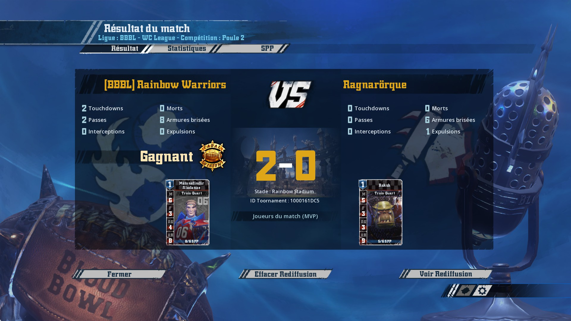 WC J2 : [Momienova] Rainbow Warriors vs Ragnarörque [Gunnar] : 2-0 DB90D25C1D6FCDDE3EC6CCB7581A89B4F0F6D583