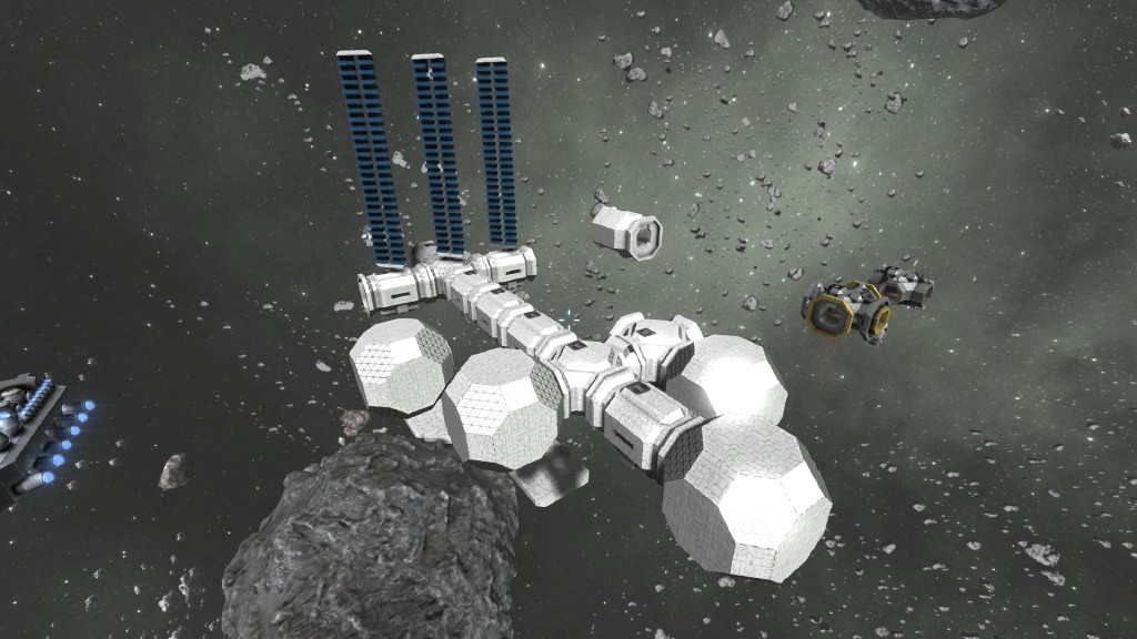 Steam community screenshot wip modular space station out of small blocks - Small reactor space engineers gallery ...