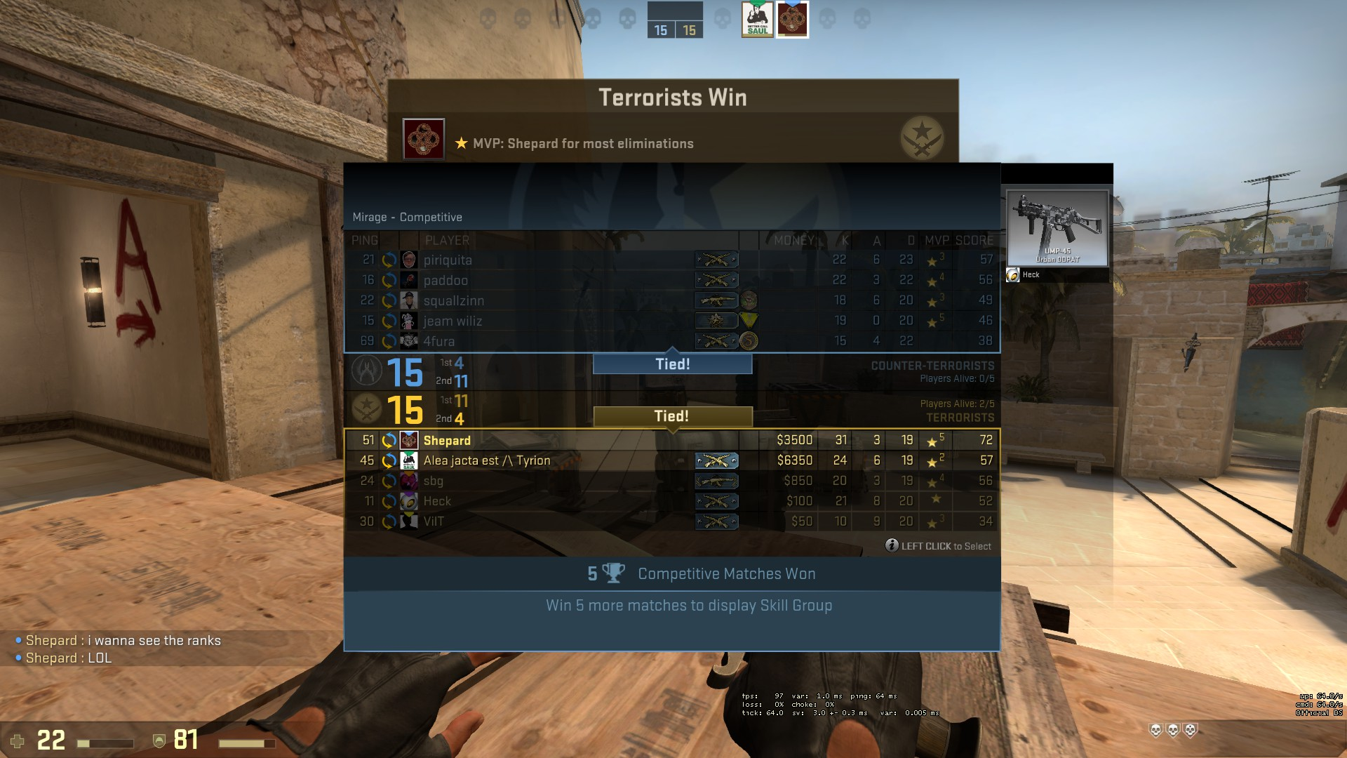 how to get unranked on csgo