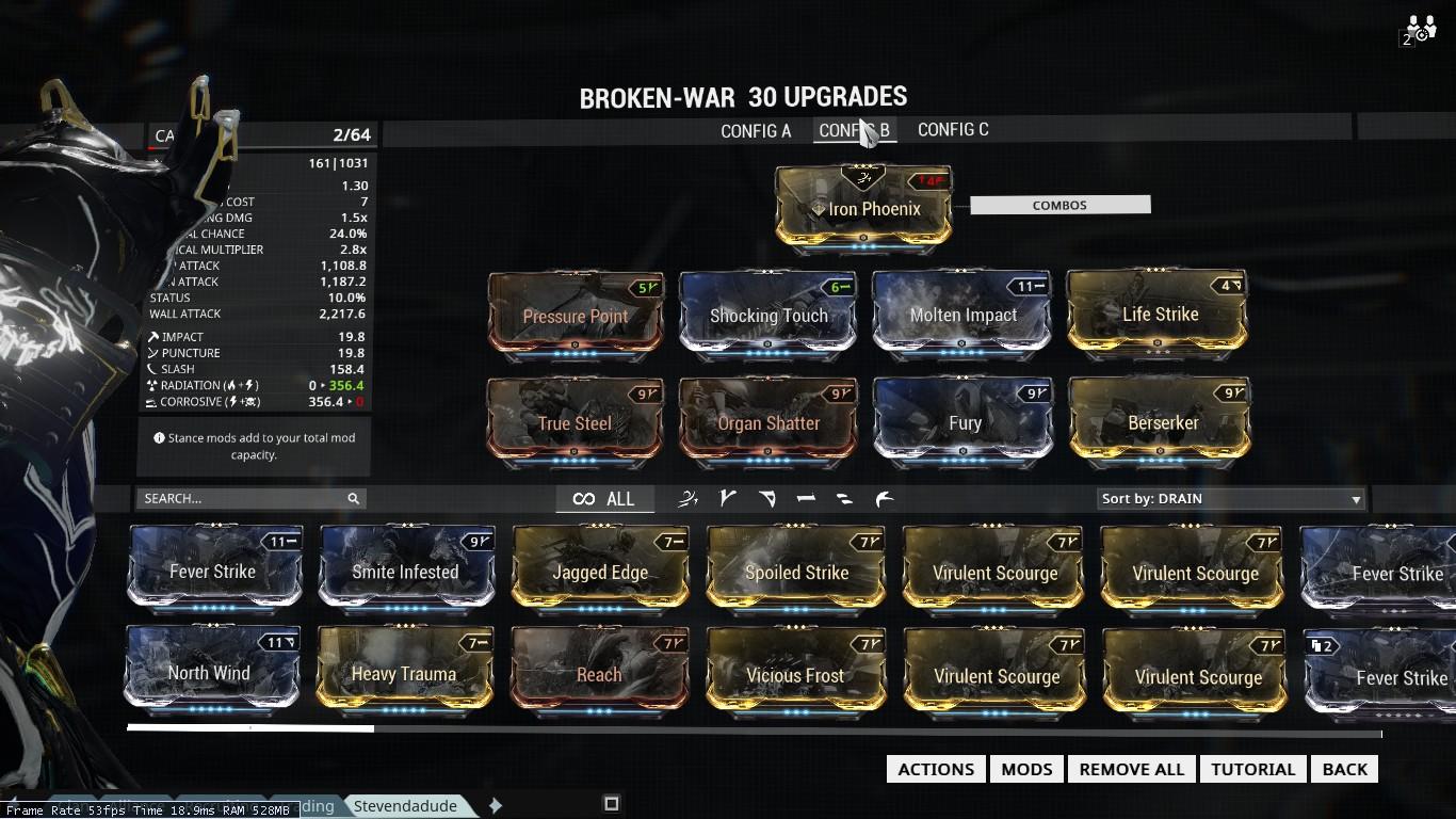 Warframe Broken Scepter Build