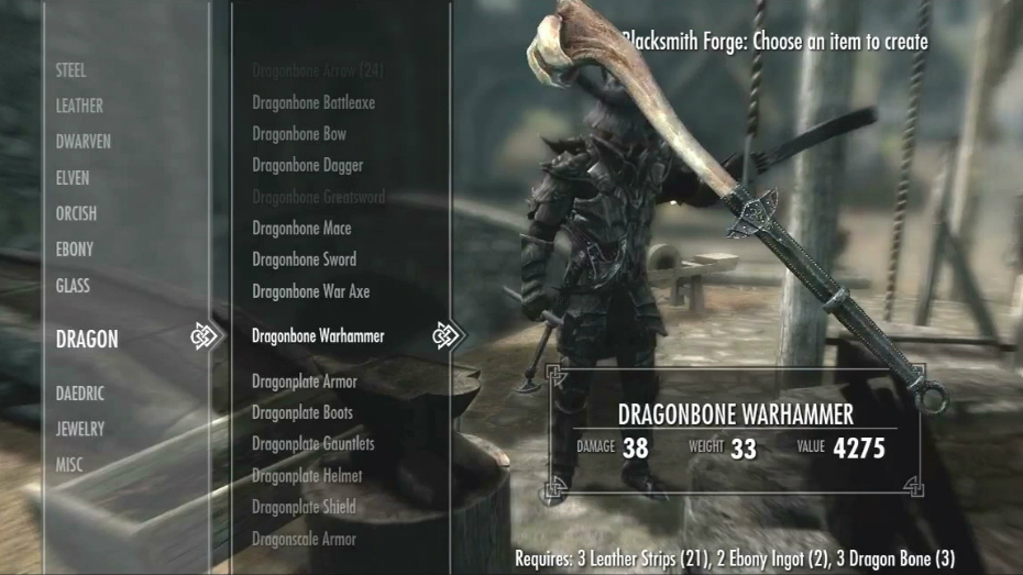 how to make powerful weapons in skyrim