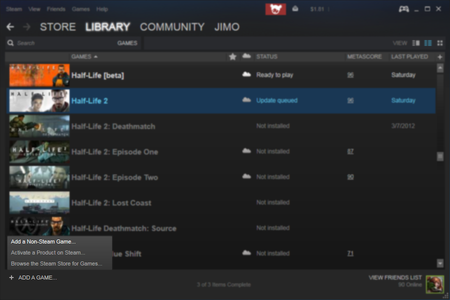 how to get steam to detect a game