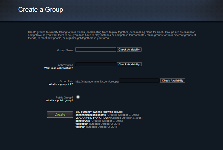 how to delete your own steam group