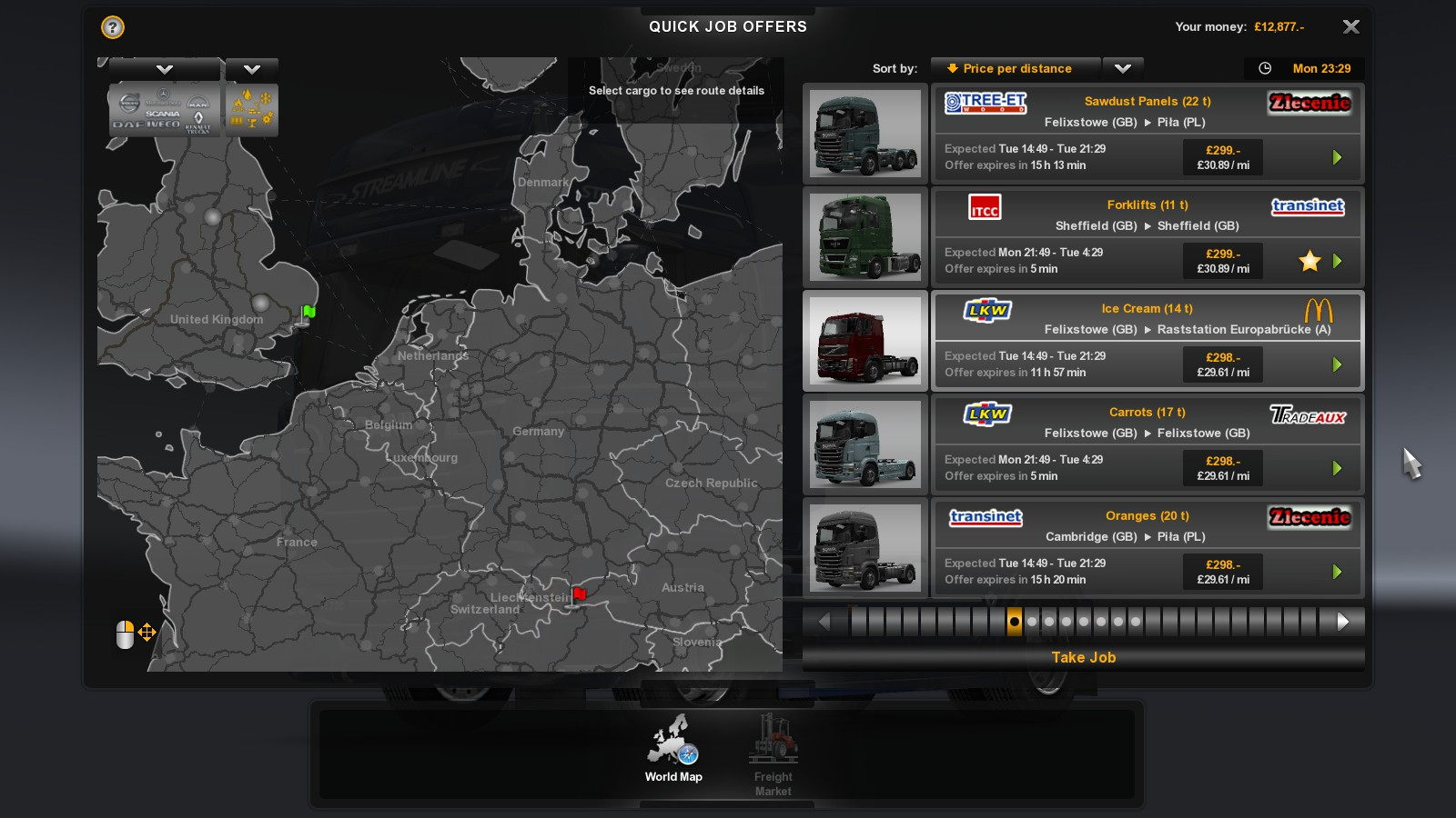 promods view topic route not showing i m not far into the game but under quick jobs i keep getting generated long distance jobs no route given seemingly a problem somewhere