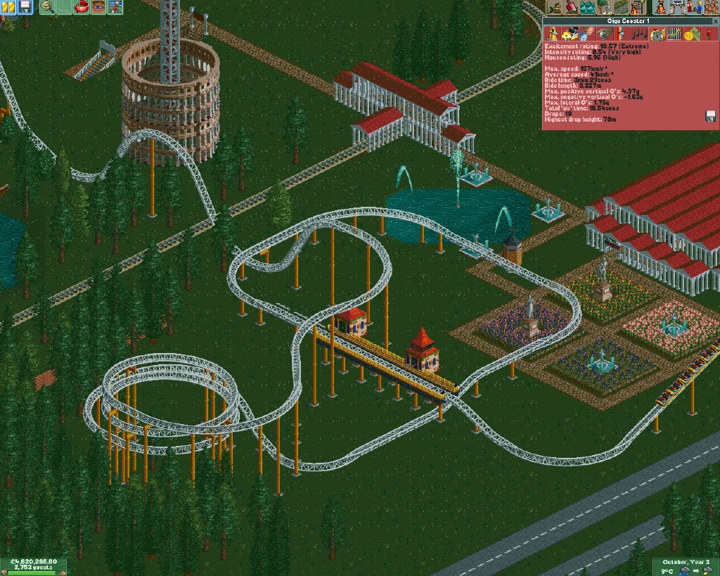 how to make roller coaster tycoon deluxe full screen