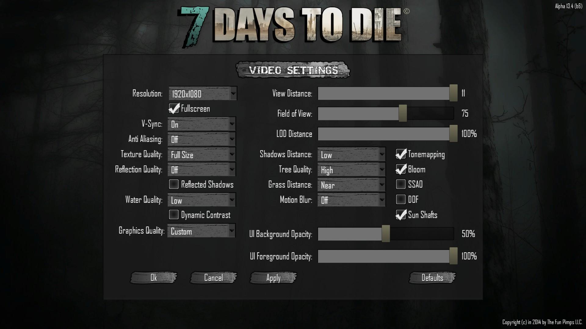 7 days to die fps