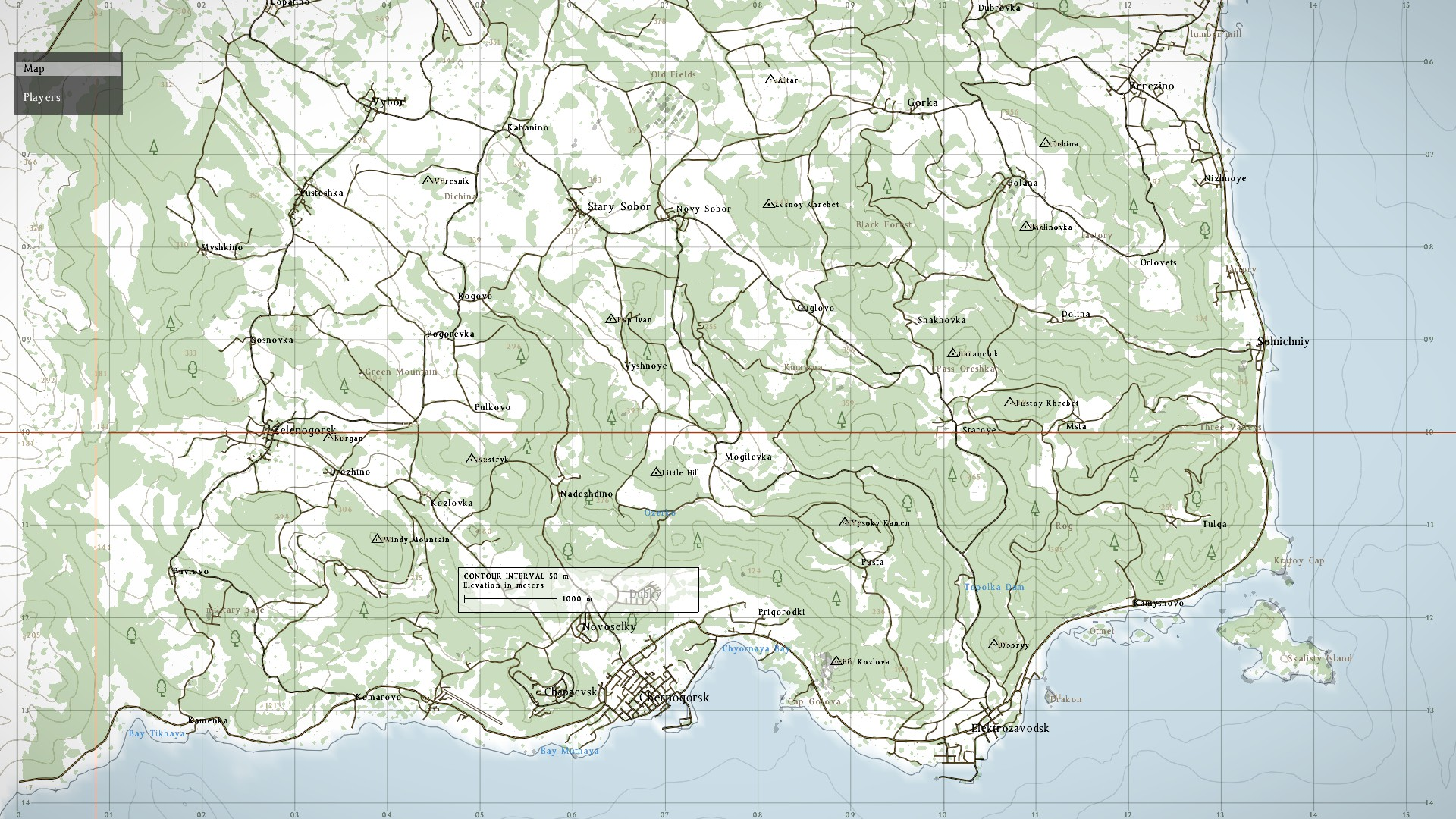 dayz map