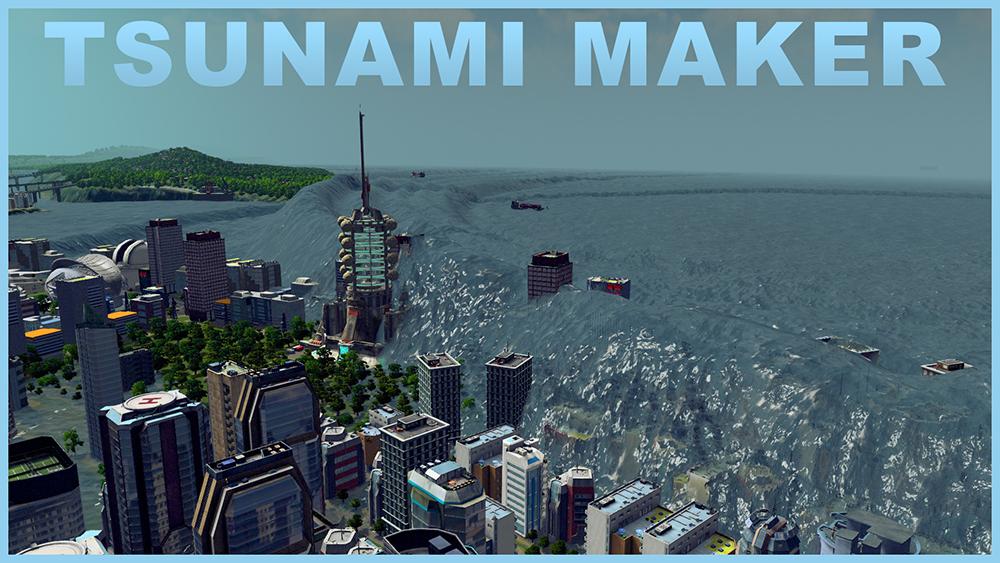 mega tsunami disaster water spawner skymods