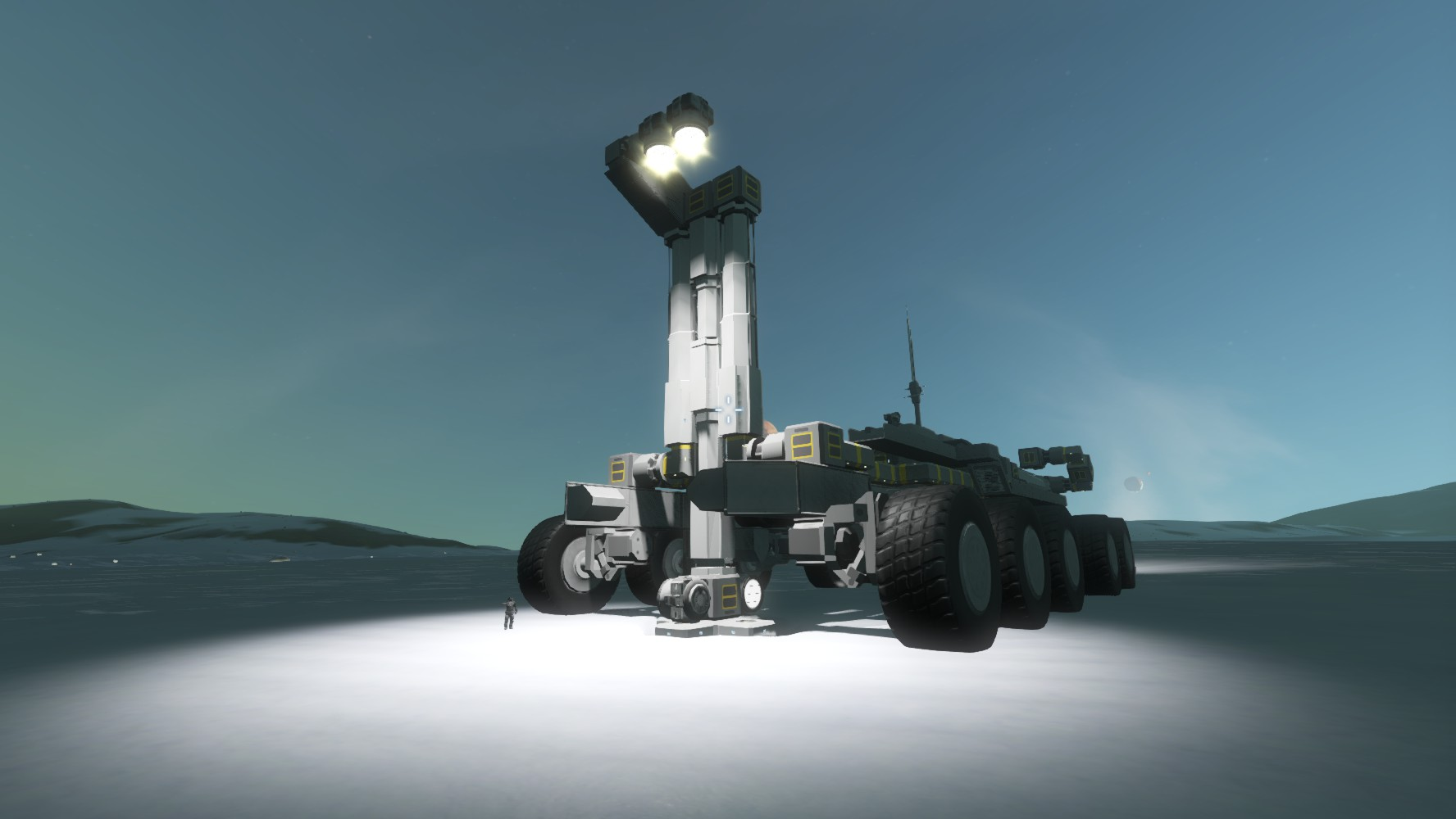 space engineers how to make a larger planet