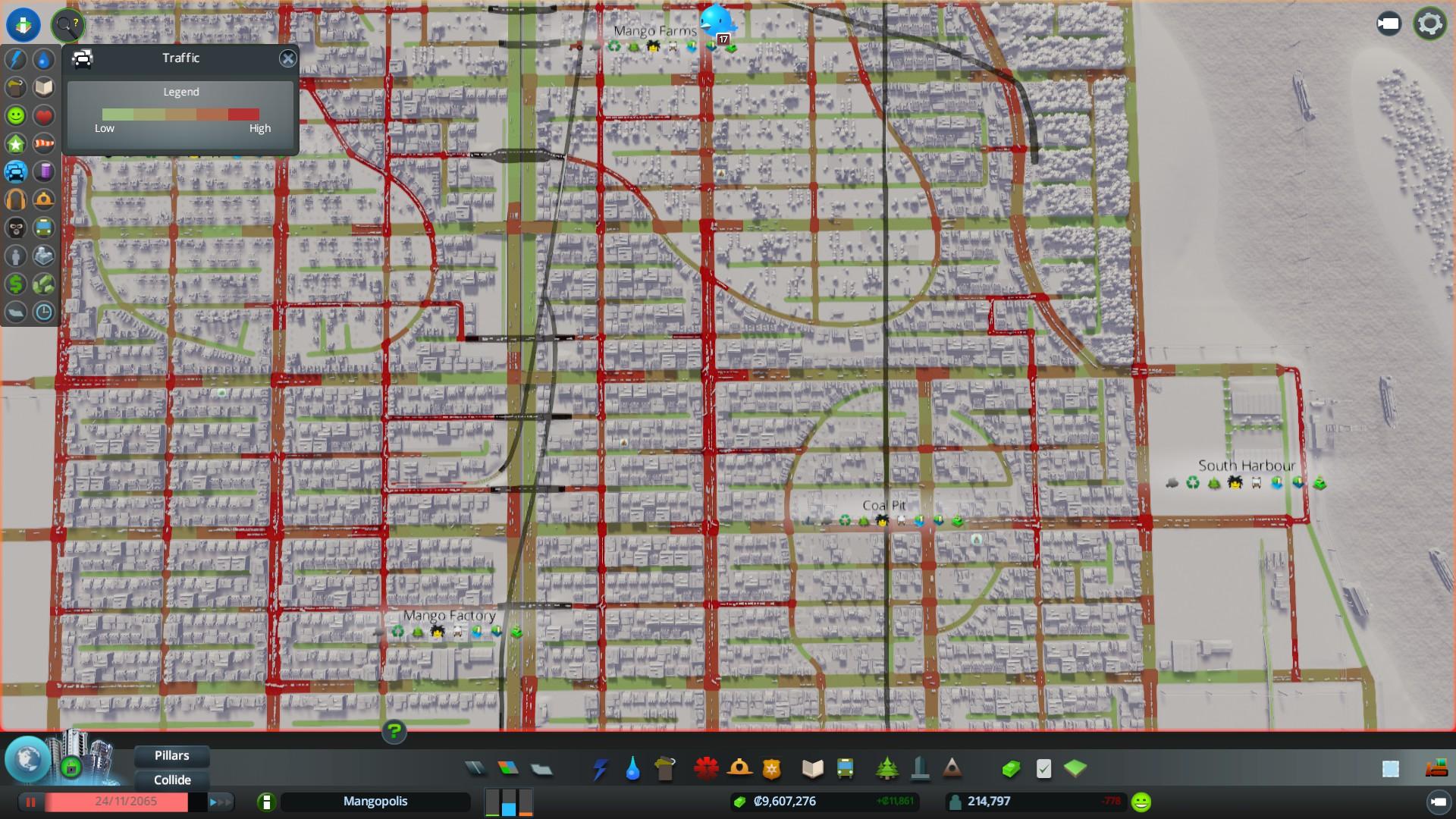 cidade com graves problemas de congestionamento