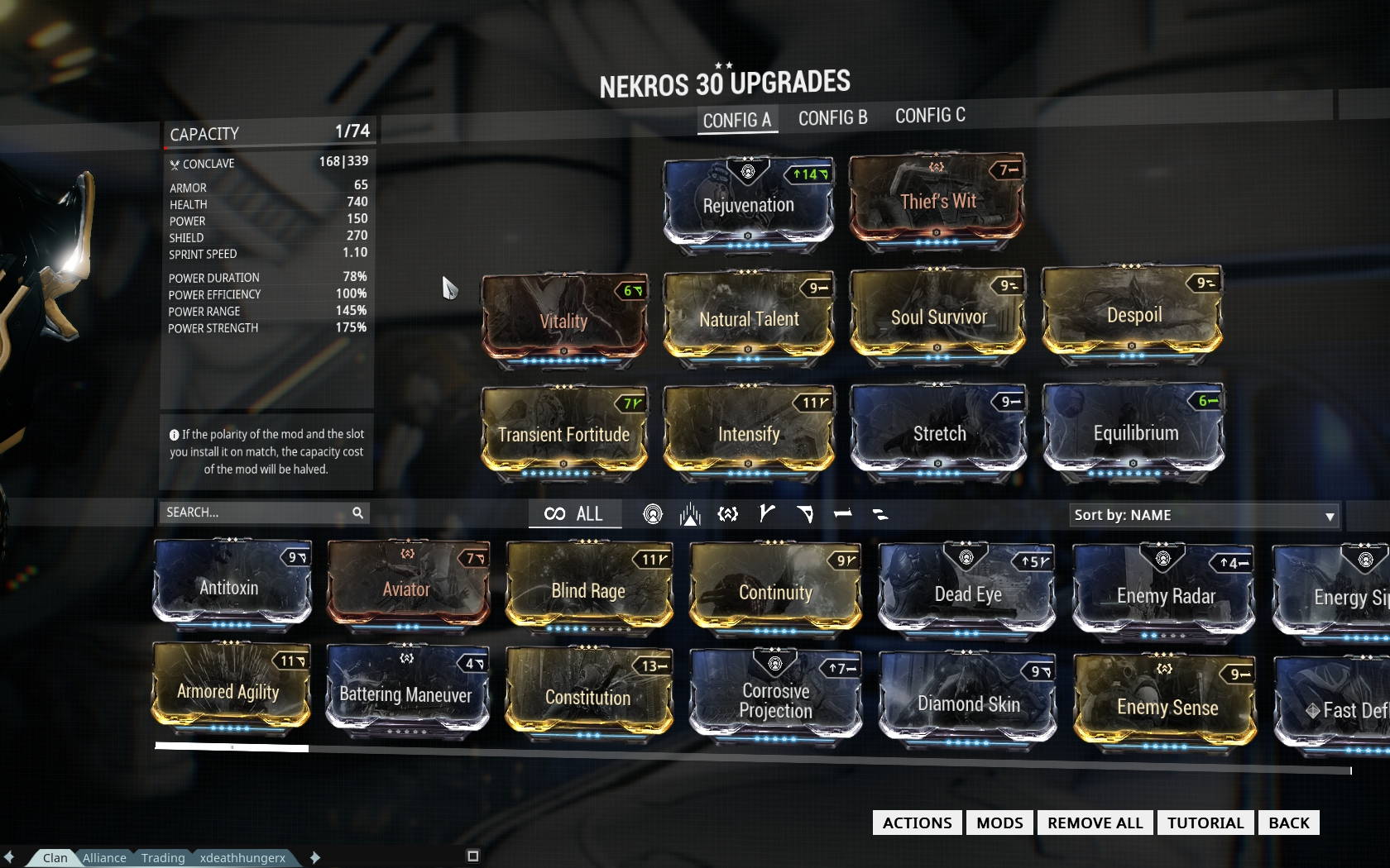 warframe loadout slots