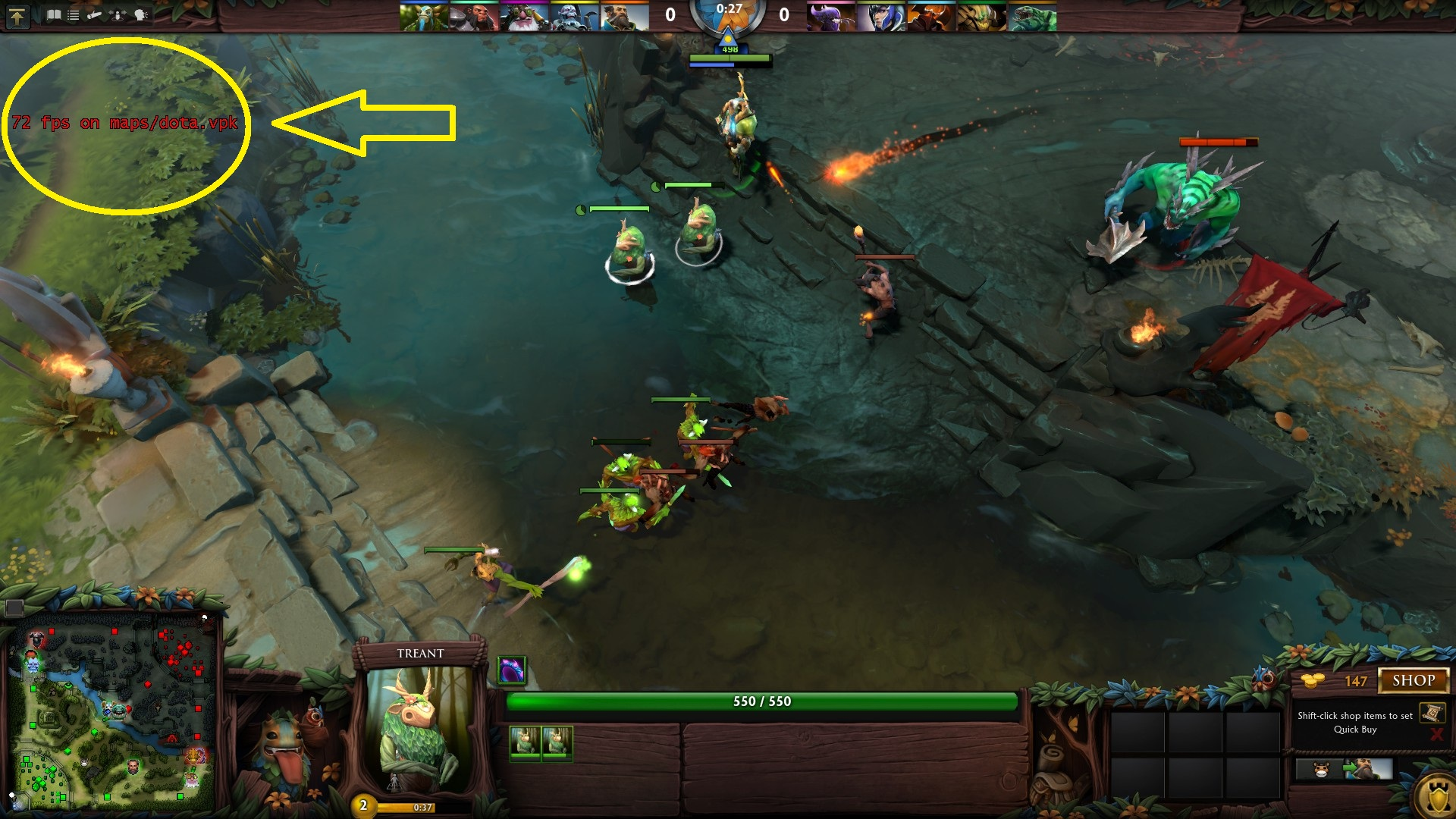 how to show fps and ping in dota console