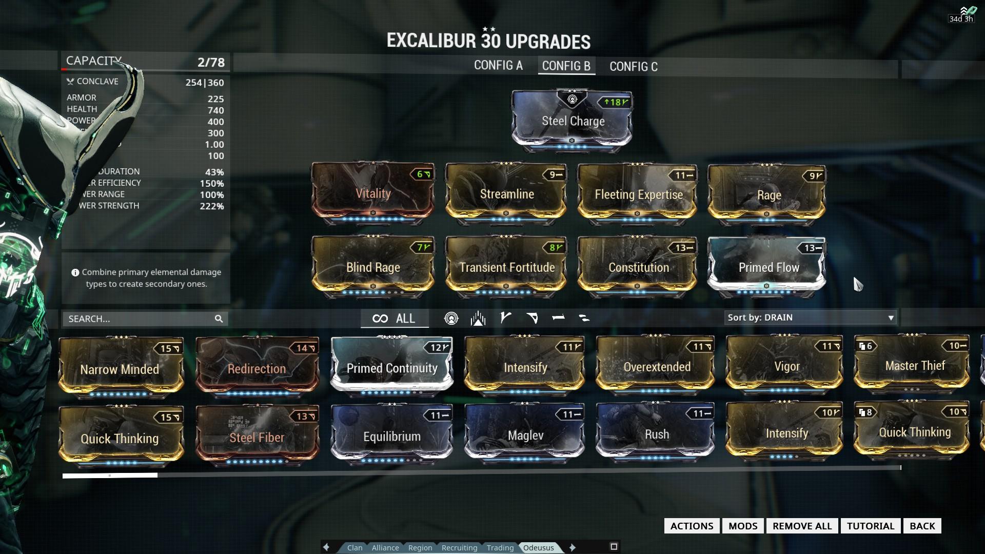 Warframe Excalibur Build Guide