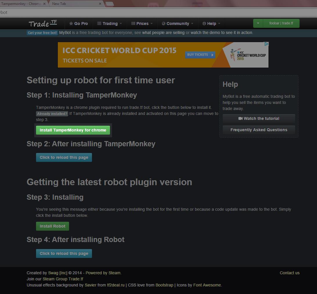 Steam trading bot tutorial