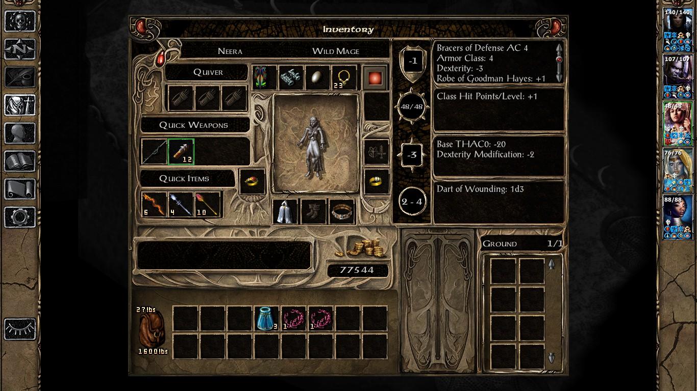 Baldurs Gate II Enhanced Edition - опыт, гайд, предметы, заклинания, взлом