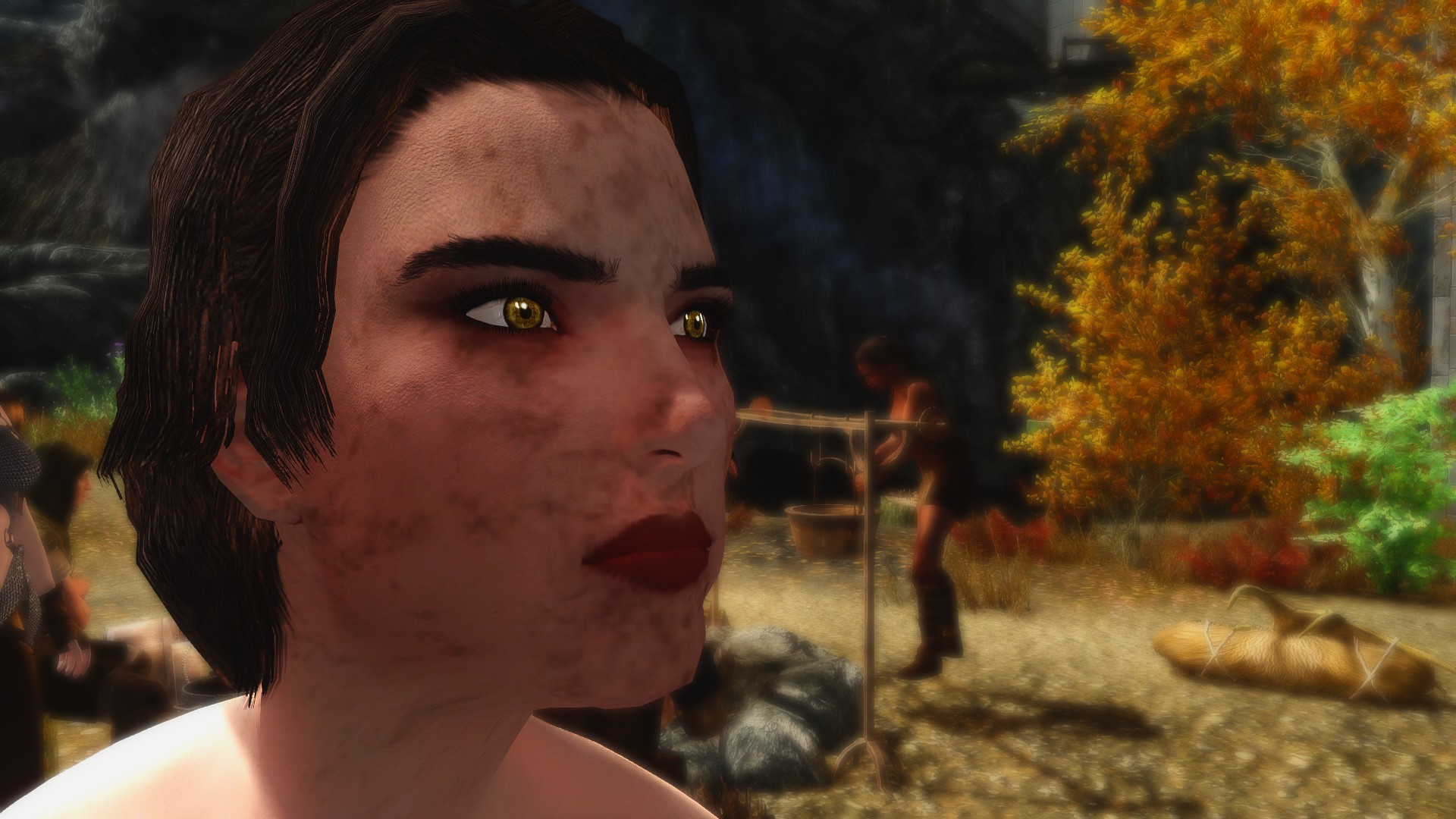 Can anyone tell me what this ugly face texture is? : skyrimmods