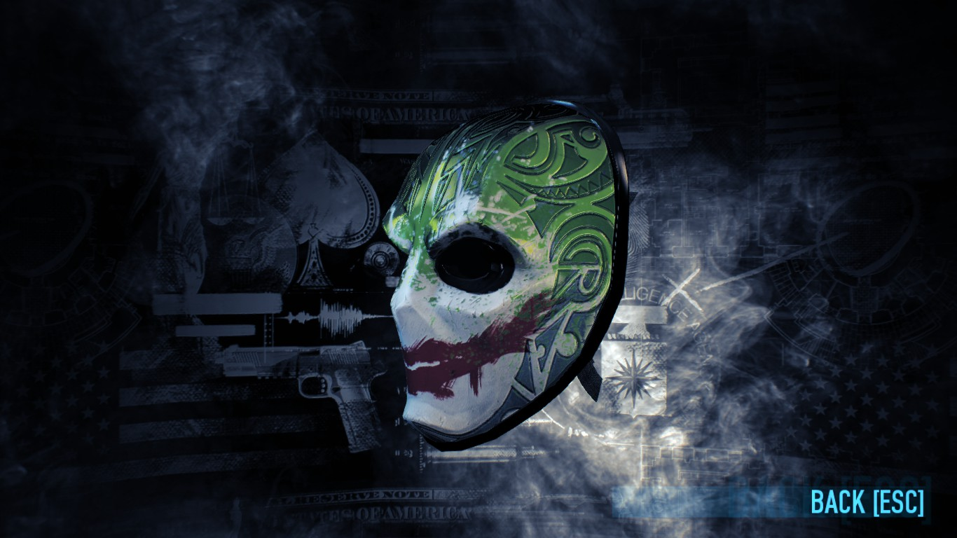 payday 2 one down mask guide