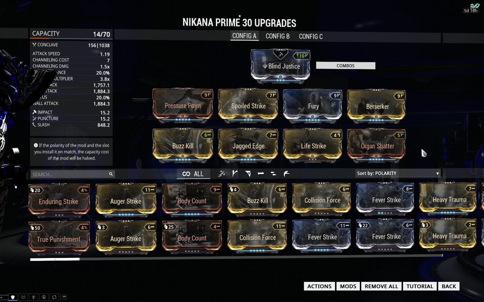 Build Nikana Dragon Warframe