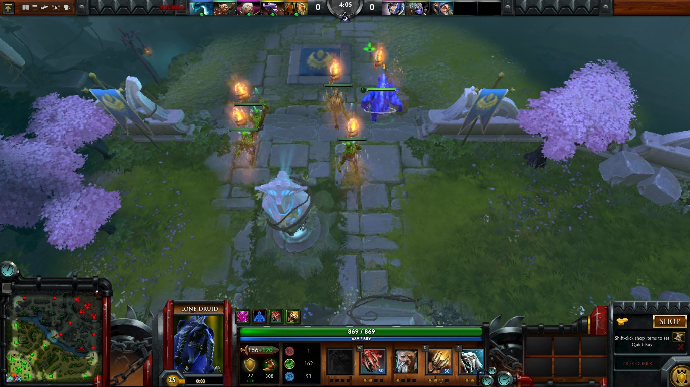 morphling using battle cry provides the buff to creeps