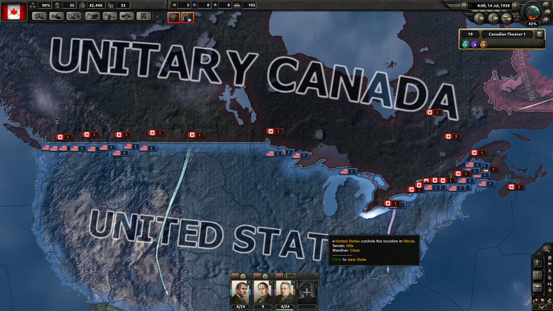 Is it possible for Fascist Canada to annex US? | Paradox Interactive