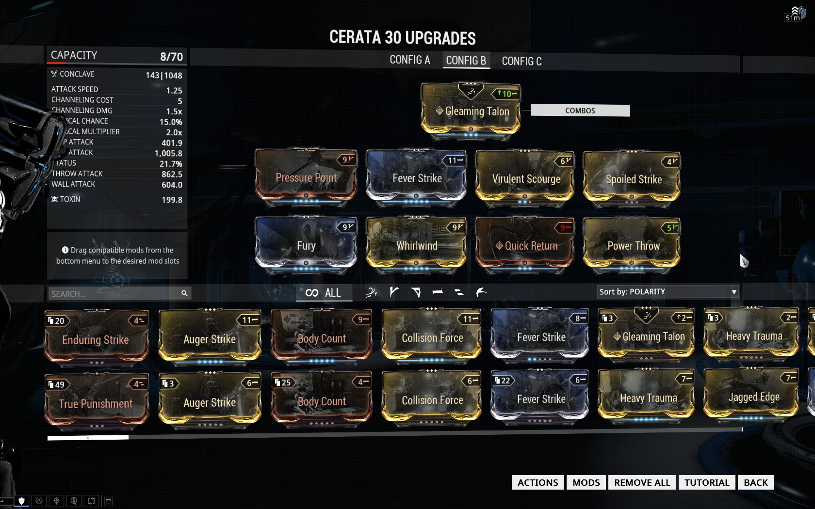 Warframe Ev Trinity Prime Build