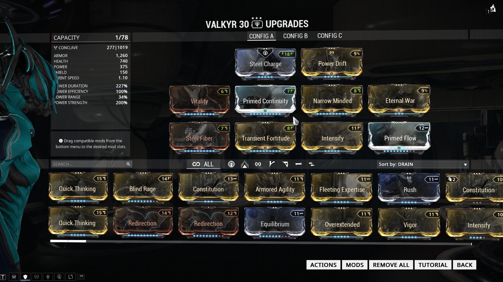 Warframe Update  Build Valkyr