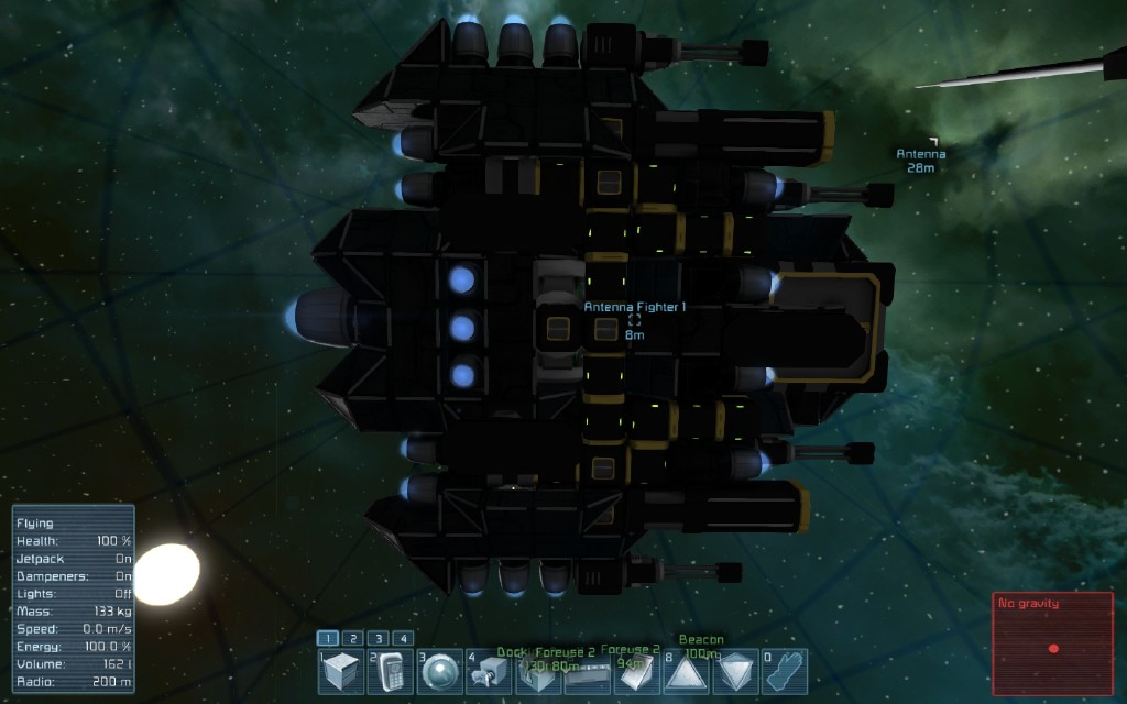 Steam community screenshot dan2d3d 39 s dragon eye small drone fighter no cockpit with - Small reactor space engineers gallery ...