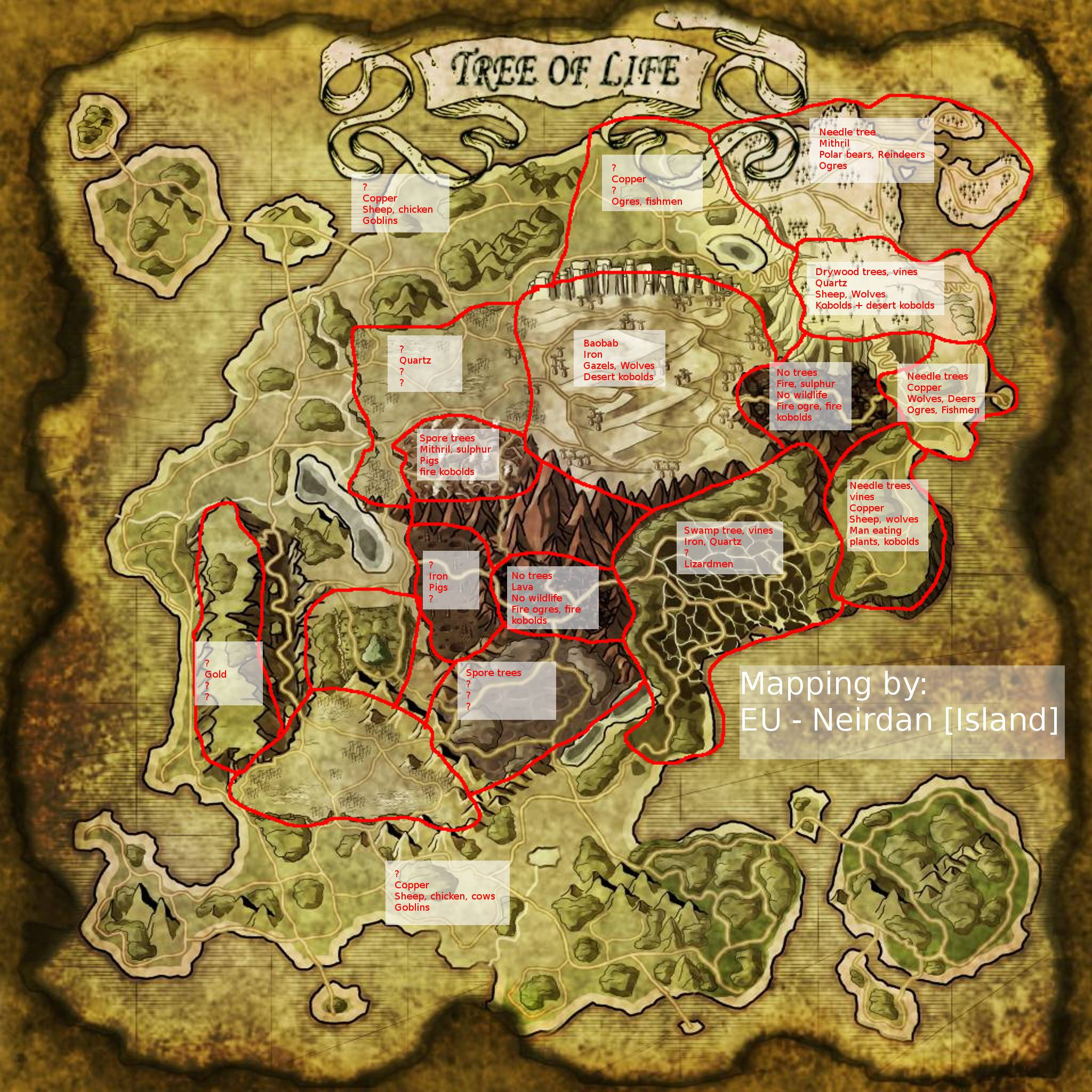 The Island Ressource Map Ark