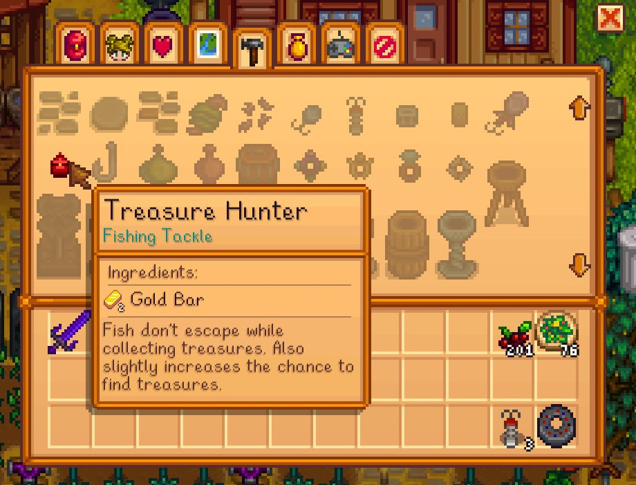 how to quickly bring up foraging stardew valley