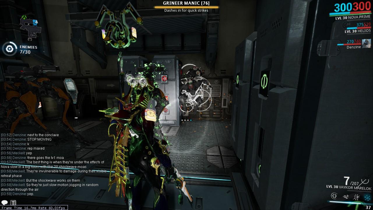 warframe how to get manics to spawn