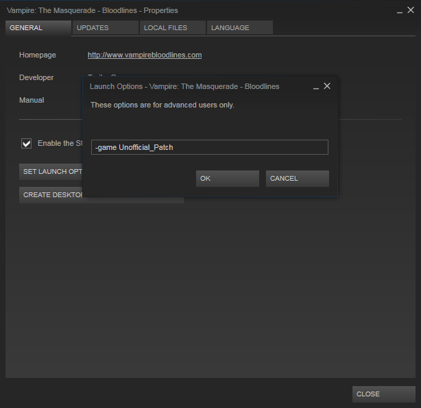 how to set launch options on non steam games