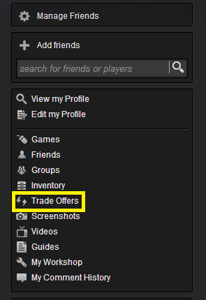 Steam new trade system
