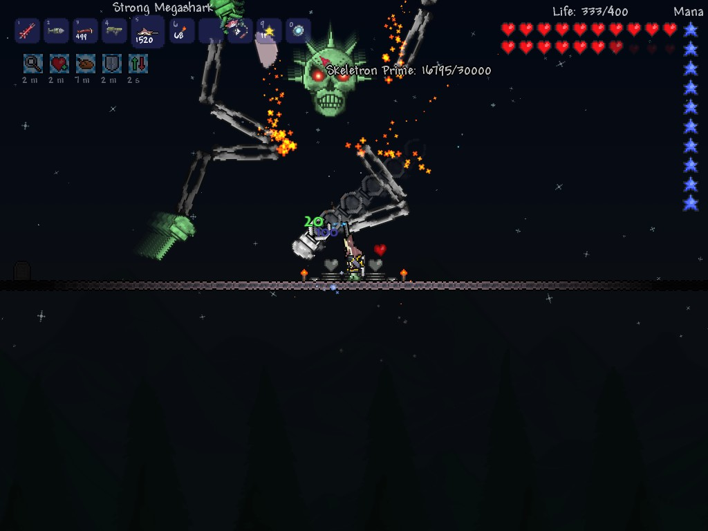 terraria how to kill skeletron on first night